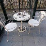 Sitzgruppe-Sunflower-weiss-Mosaik-Gartenmöbel