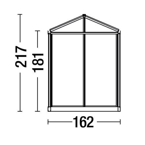 Stadtgewächshaus technische Zeichnung