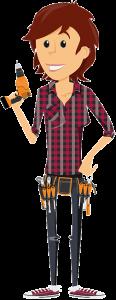 Comic Bauarbeiter