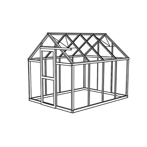 viktorianisches gew chshaus junior unlackiert 1. Black Bedroom Furniture Sets. Home Design Ideas