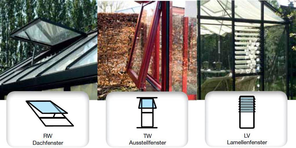 Unterschiedliche Fensteroptionen