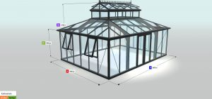 Gewächshaus Konfiguration - Kathedrale KAT46, RAL9005 JJC278