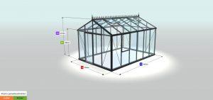 Gewächshaus Konfiguration - Promo pulverbeschichtet PP34, RAL9005 - OYB343